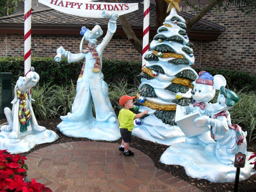 Walt Disney World during Christmas - Decorations at Disney Springs (Disney Marketplace)