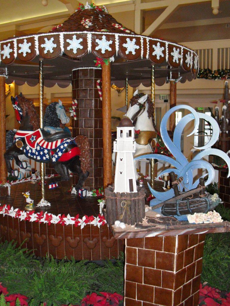 Walt Disney World during Christmas - chocolate carousel at Beach Club Resort