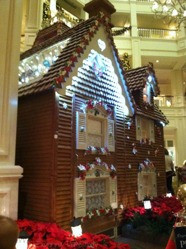 Walt Disney World during Christmas time - Grand Floridian gingerbread house