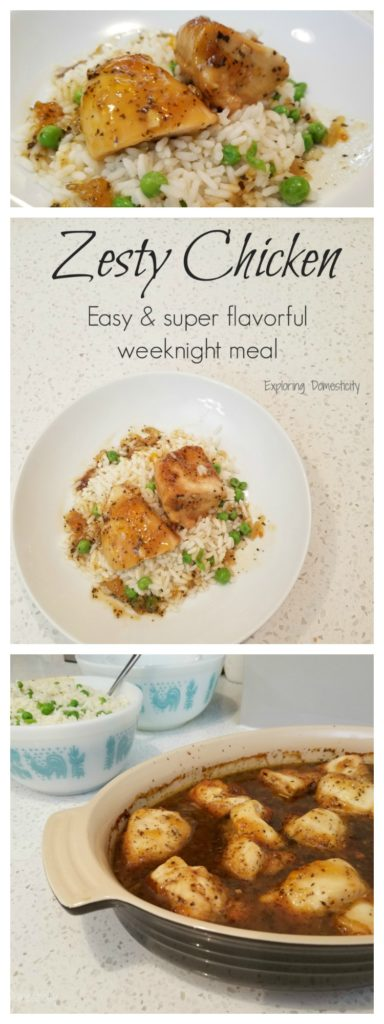 Zesty Chicken - flavorful easy meal perfect for weeknights or as a freezer meal