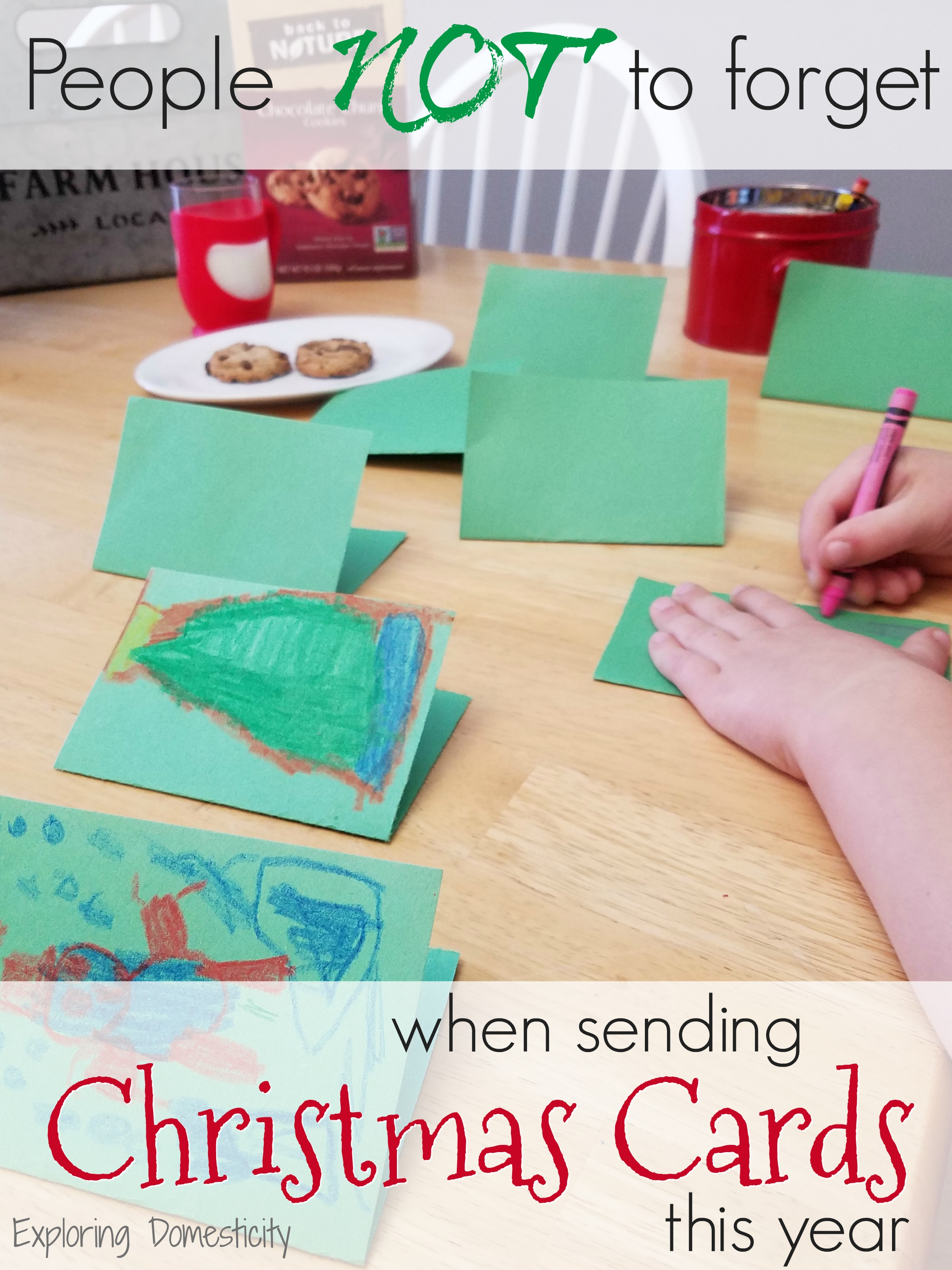 people not to forget when sending christmas cards