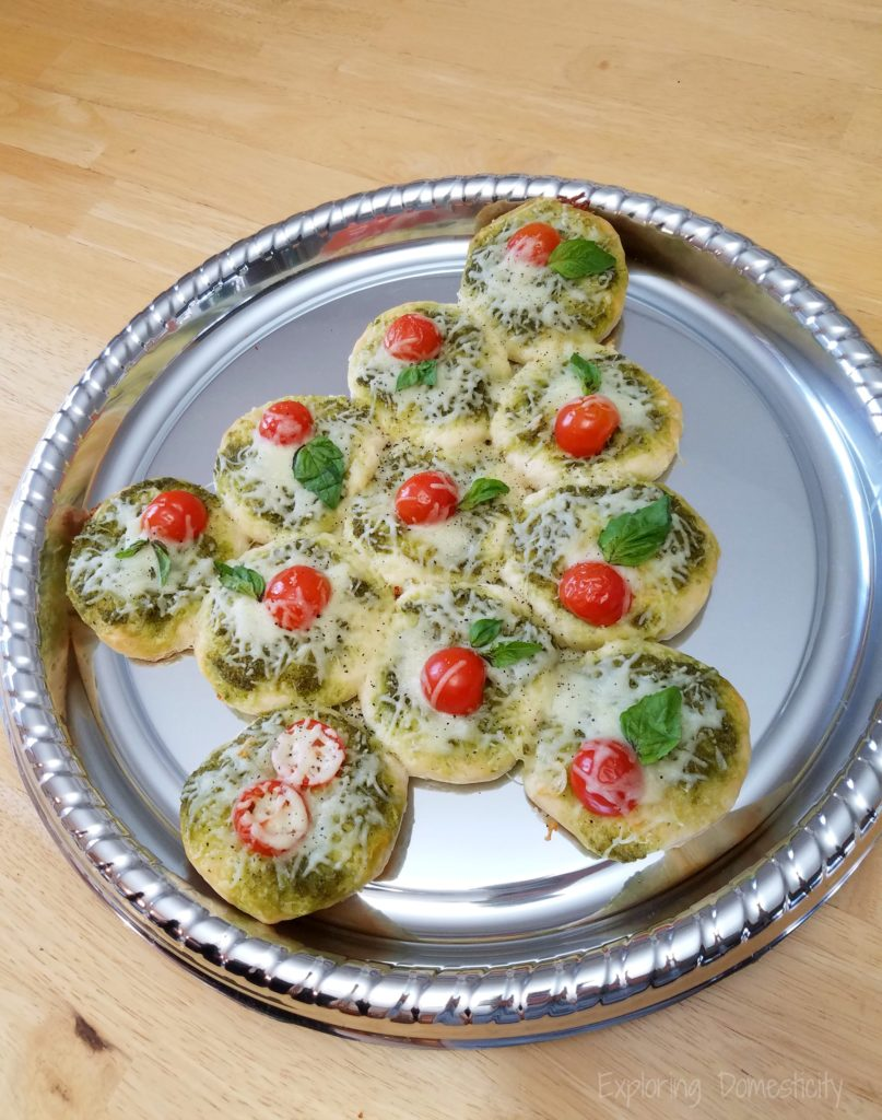 Warm Caprese Christmas Tree Holiday Appetizer