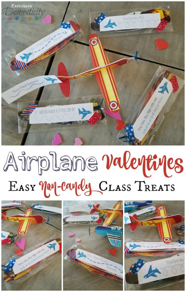 Airplane Valentines - Easy Non-Candy Class Treats