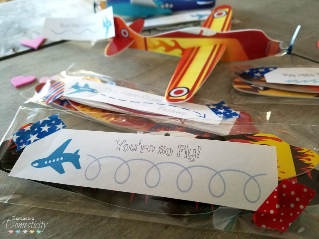 Easy Airplane Valentines - You're so Fly