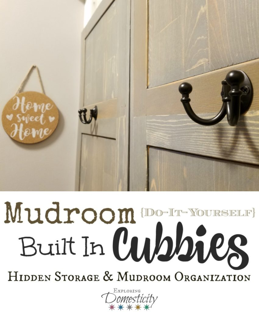 Mudroom Built In Cubbies - Hidden Storage and Mudroom Organization for kids and families