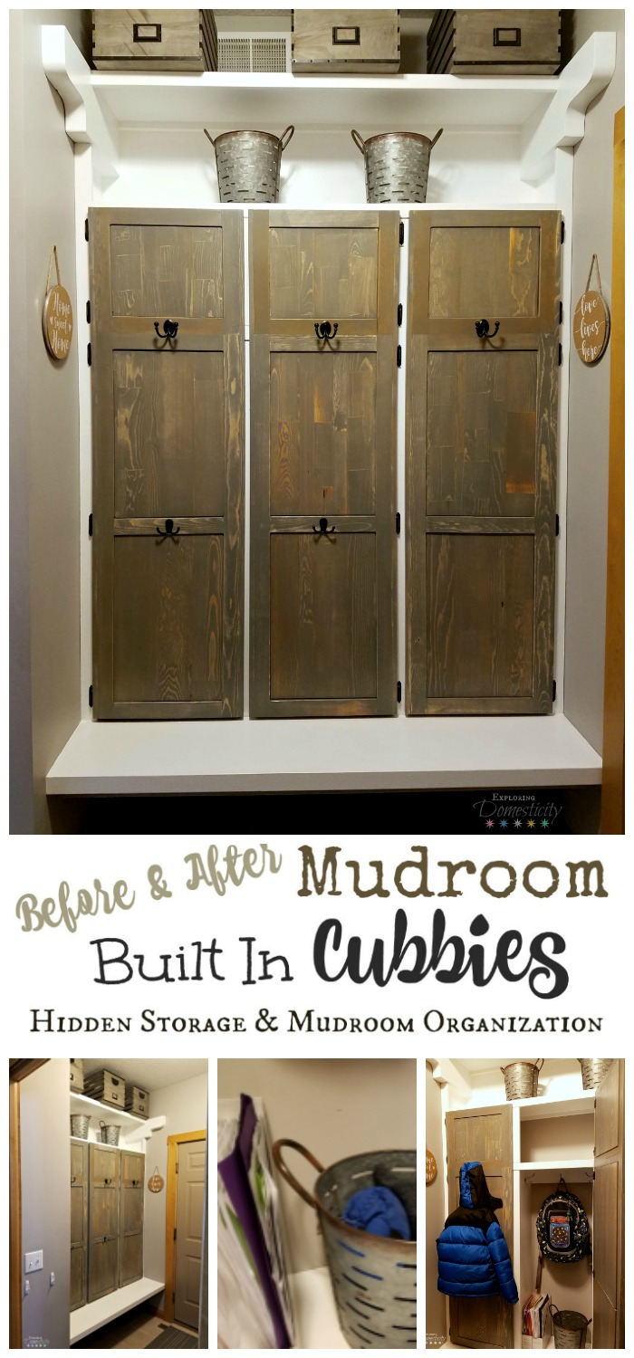 Mudroom Hidden Storage : Mudroom built in cubbies hidden storage and