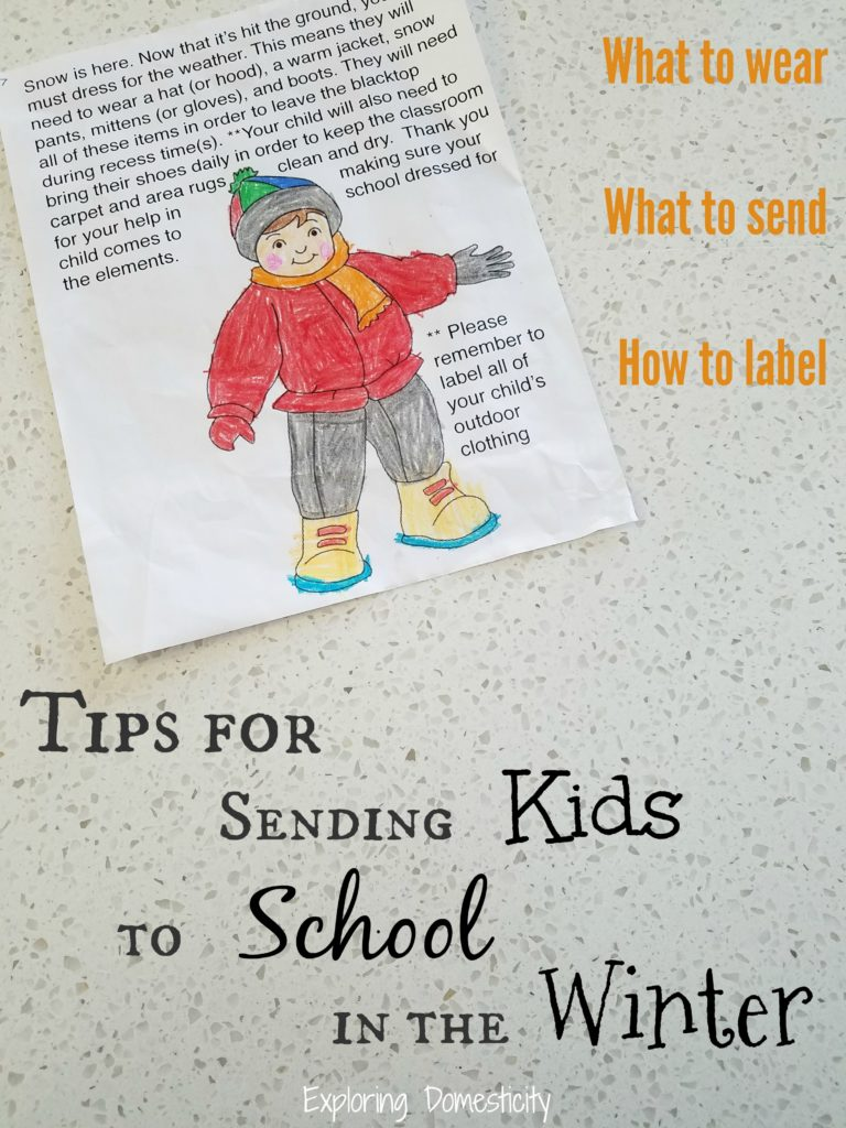 Winter School Preparation - Tips for Sending Kids to School in the Winter