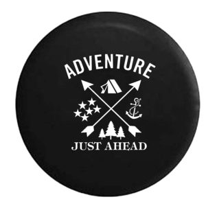 Adventure Just Ahead Camper Spare Tire Cover