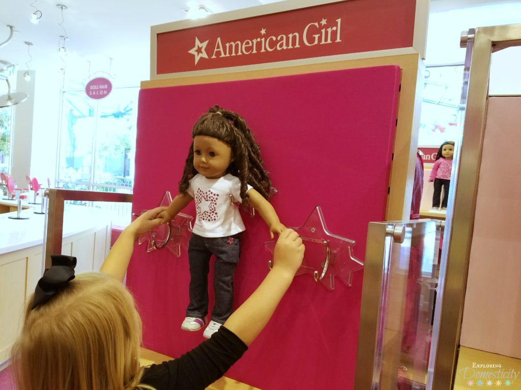 American Girl Doll Holder - store bought and DIY versions
