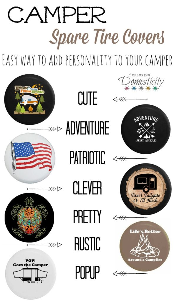 Camper Spare Tire Covers - Easily add personality to your camper!