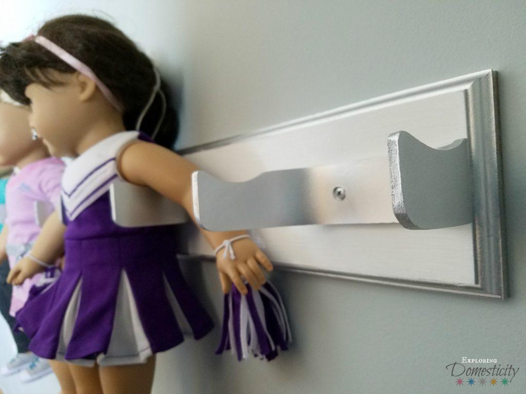DIY American Girl Doll Holder - hanging display for 18 inch dolls