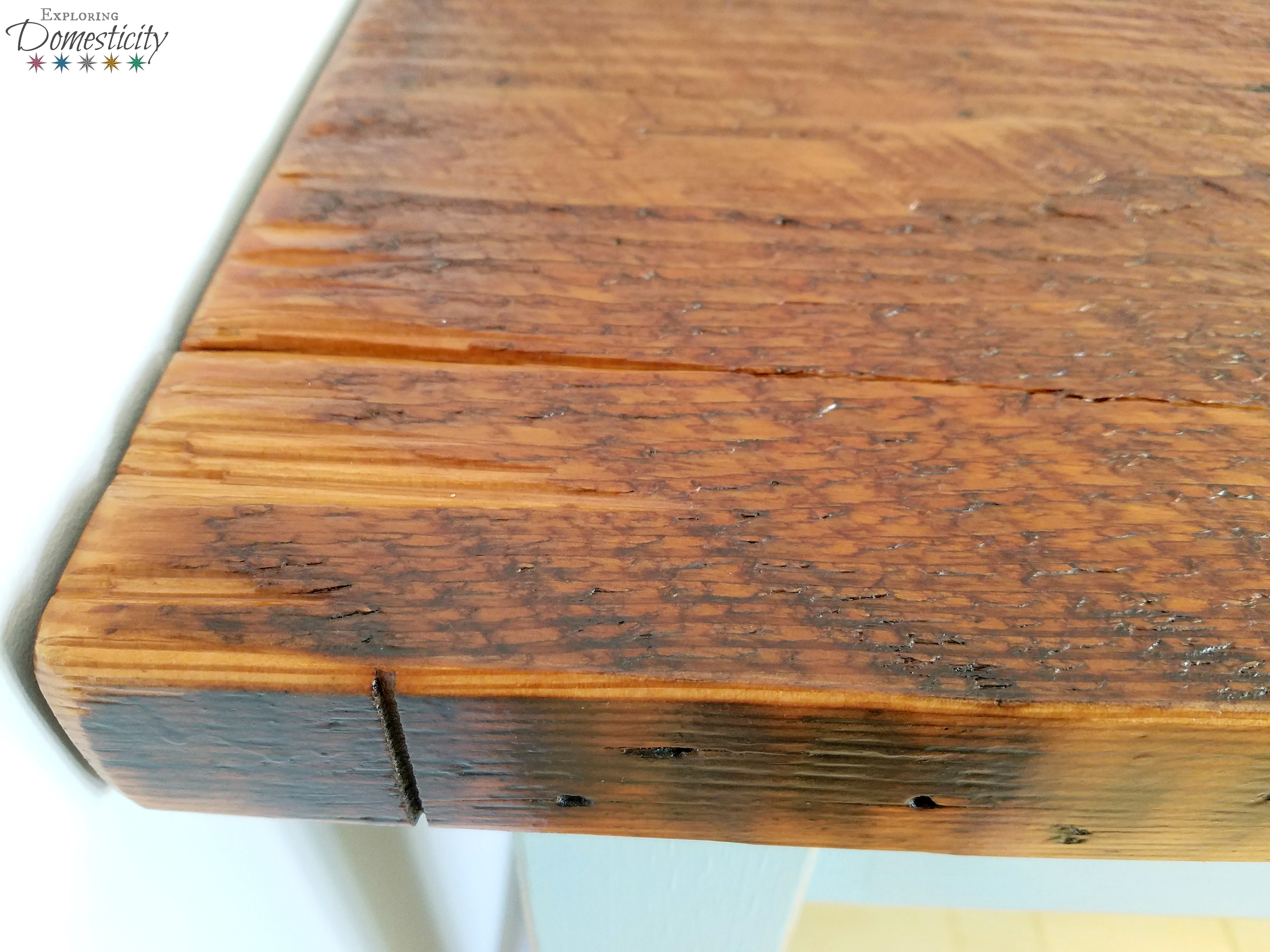 Farmhouse Tables With Gorgeous Reclaimed Wood U2013 Floor Joists From 1800s  Building