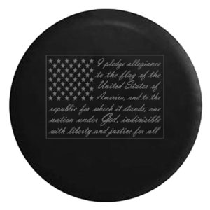 Pledge of Allegiance Camper Spare Tire Cover