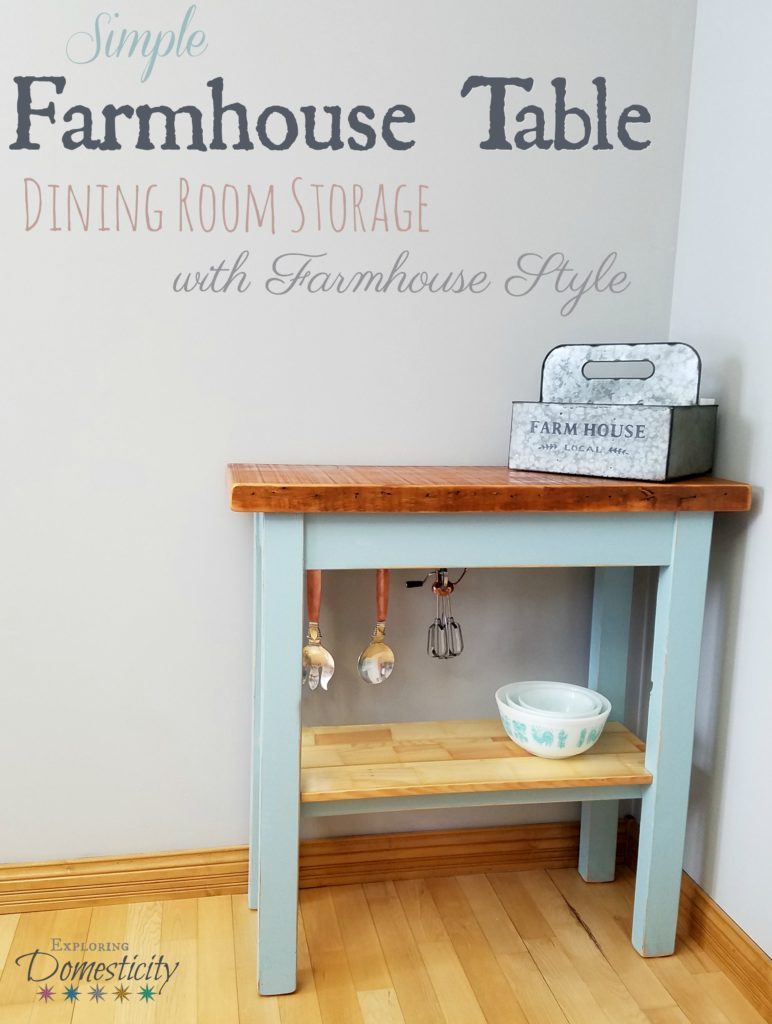 Simple Farmhouse Table - Dining Room Storage with Farmhouse Style