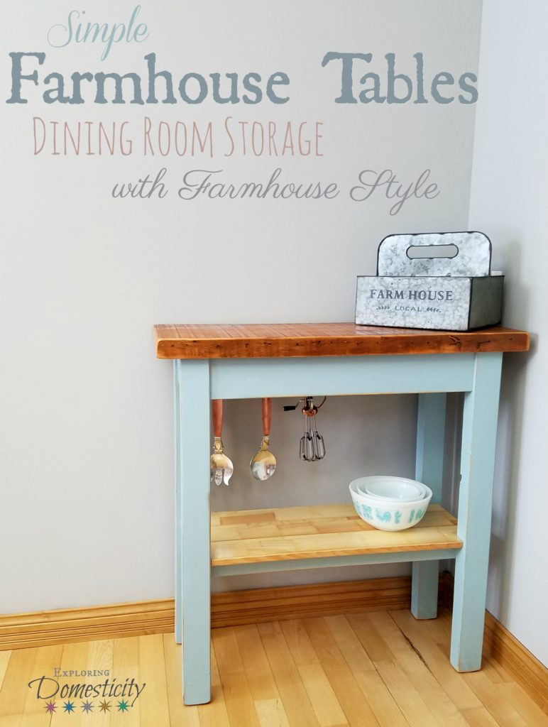 Simple Farmhouse Tables - Dining Room Storage with Gorgeous Farmhouse Style