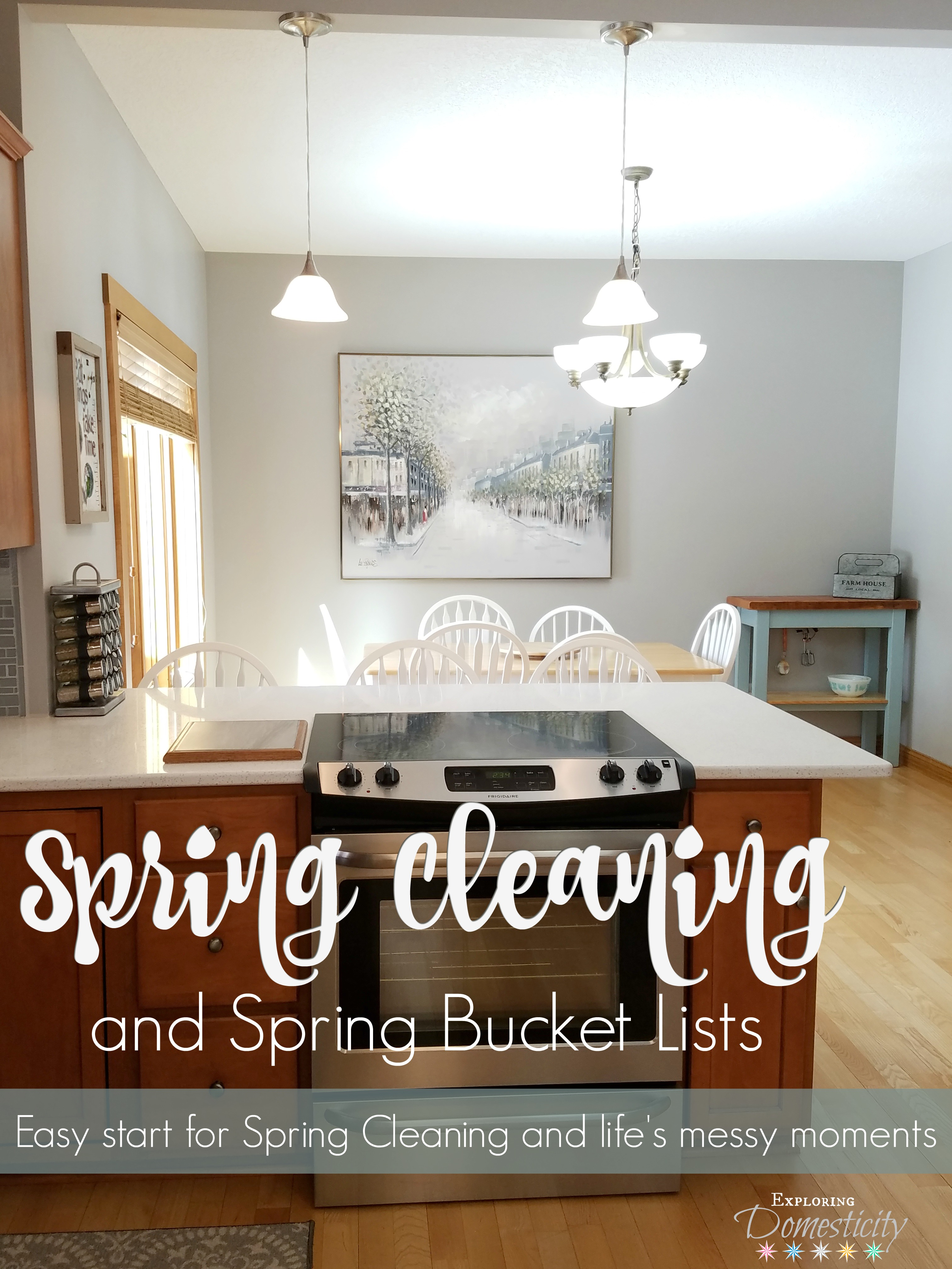 Spring Cleaning and Spring Bucket Lists ⋆ Exploring Domesticity