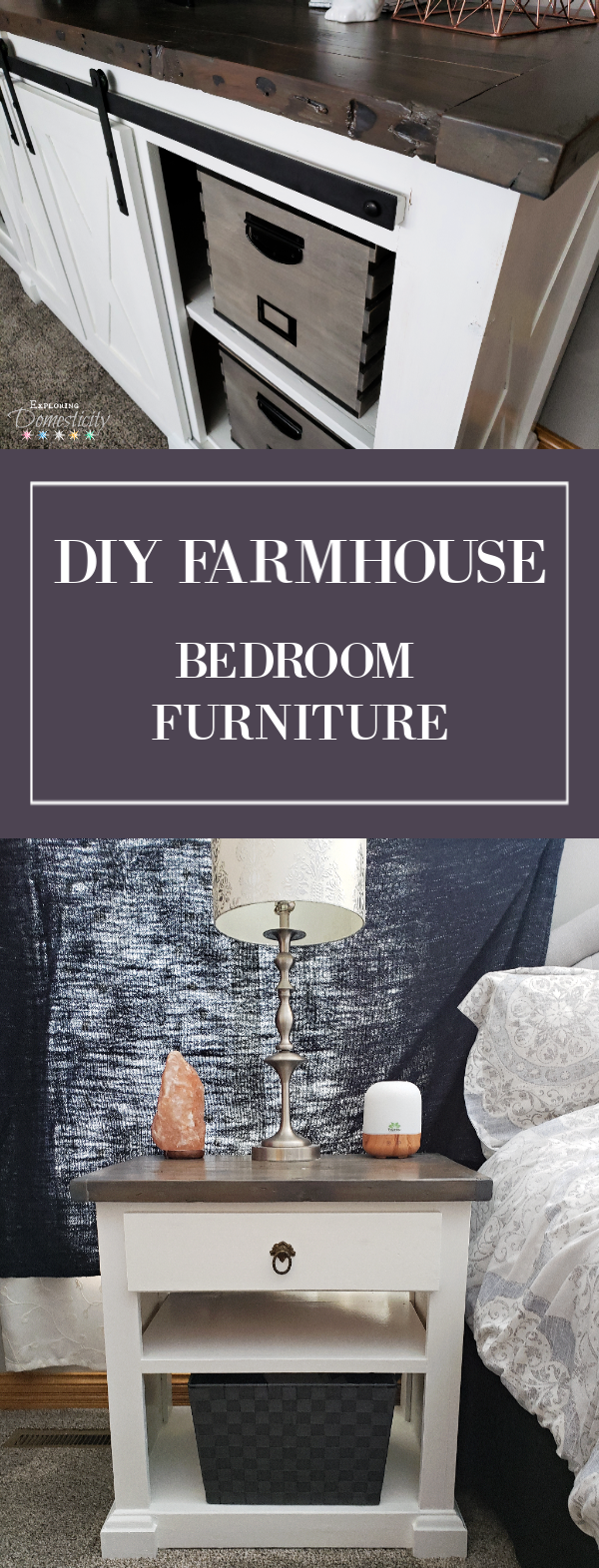 Diy Farmhouse Bedroom Furniture Diy Farmhouse Dresser And Night Stand Exploring Domesticity
