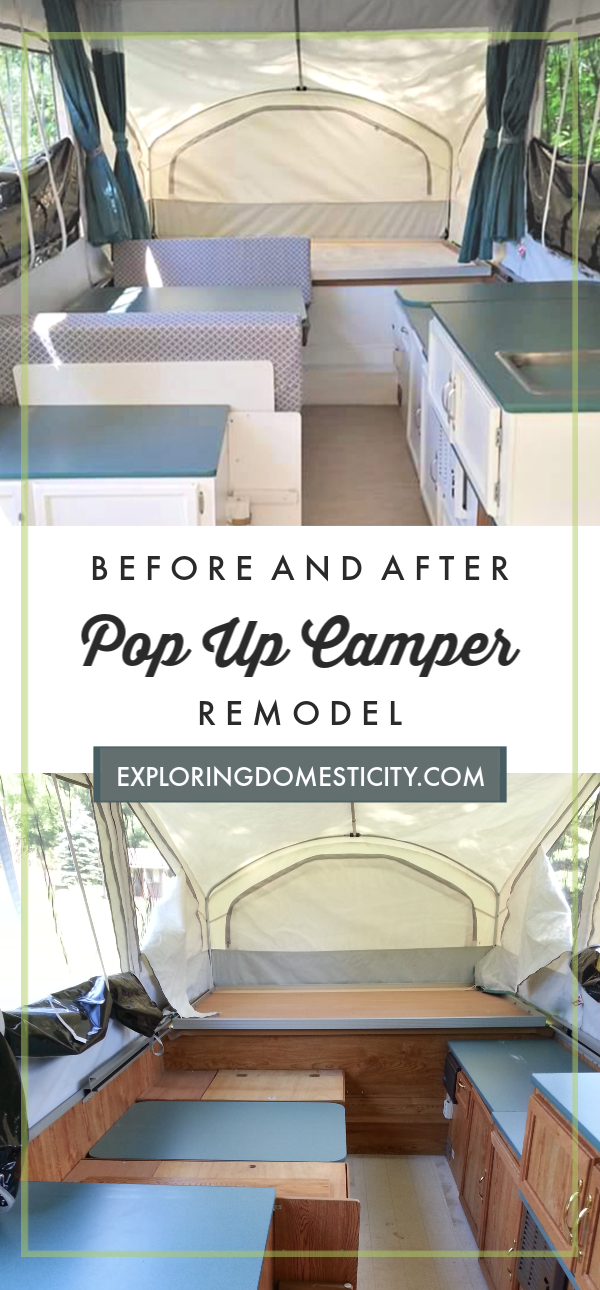 Pop Up Camper Before and After ⋆ Exploring Domesticity