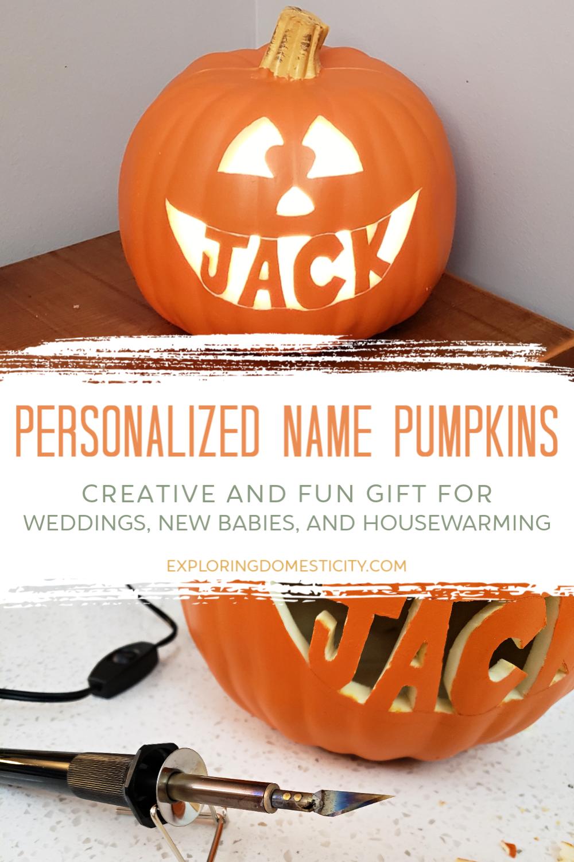 Personalized Name Pumpkins Exploring Domesticity