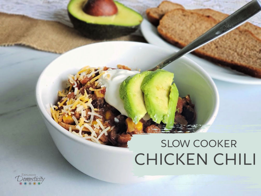 Chicken Chili - Healthy Crockpot Meal