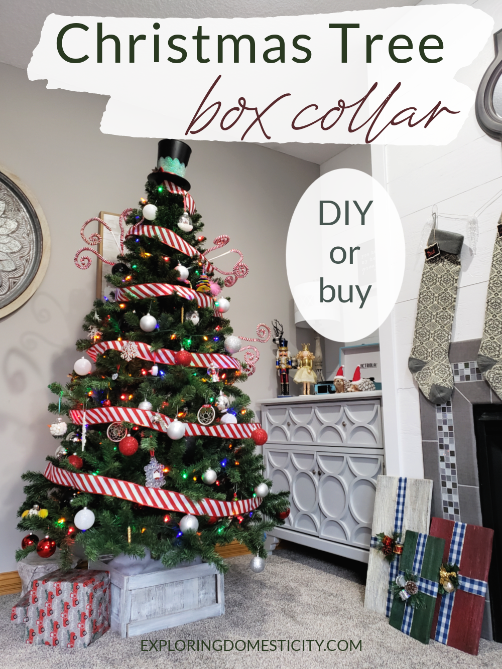 Christmas Tree Box Collar Diy Or Buy Exploring Domesticity
